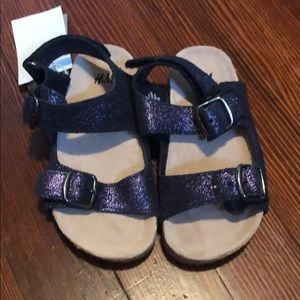 H&M Brand New Girls Suede Sandals - Size 9